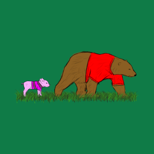 Bear and Piglette t-shirts