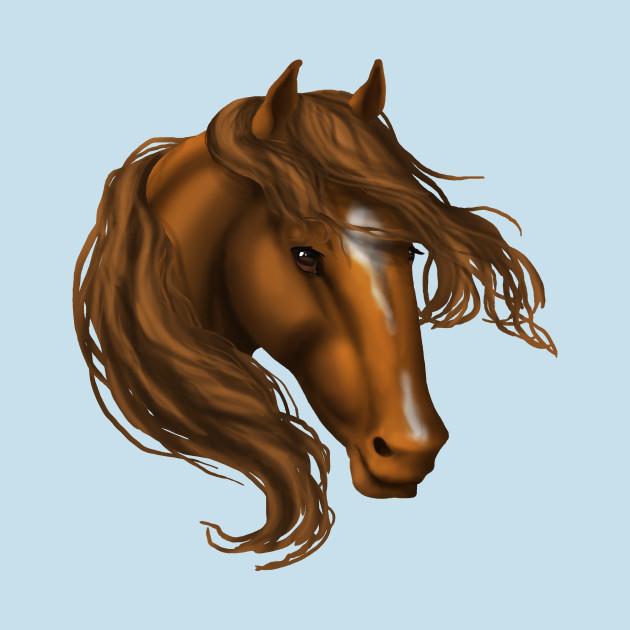 Horse Head - Chestnut Star Snip