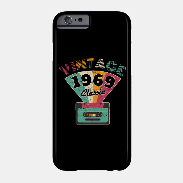 50th Birthday Gift Vintage 1969 Year Old Mixtape T Shirt Phone Case