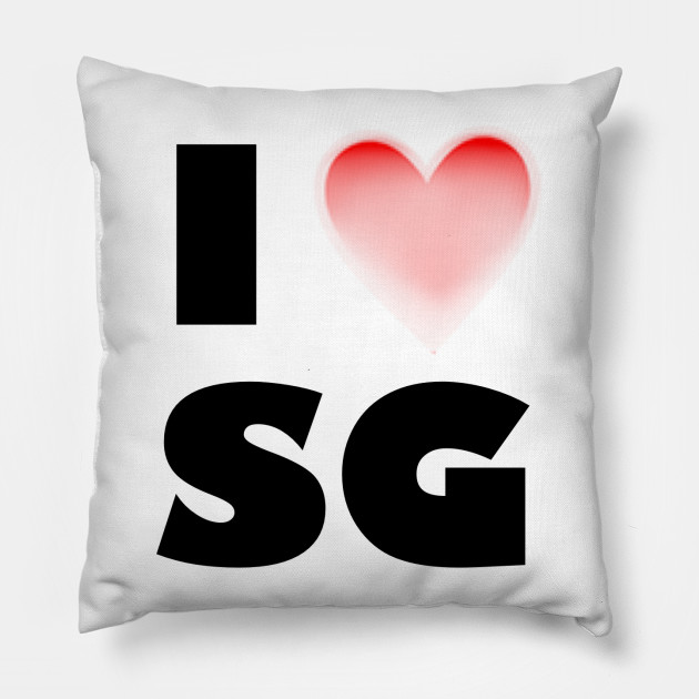 I love sg Singapore Throw Pillow