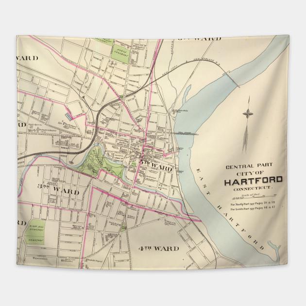 Vintage Map of Hartford Connecticut (1893)