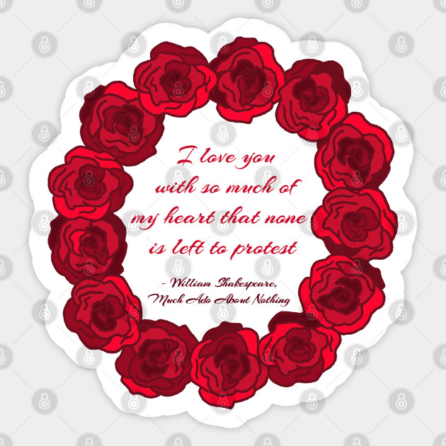 I Love You Red Roses Valentine Sticker Teepublic