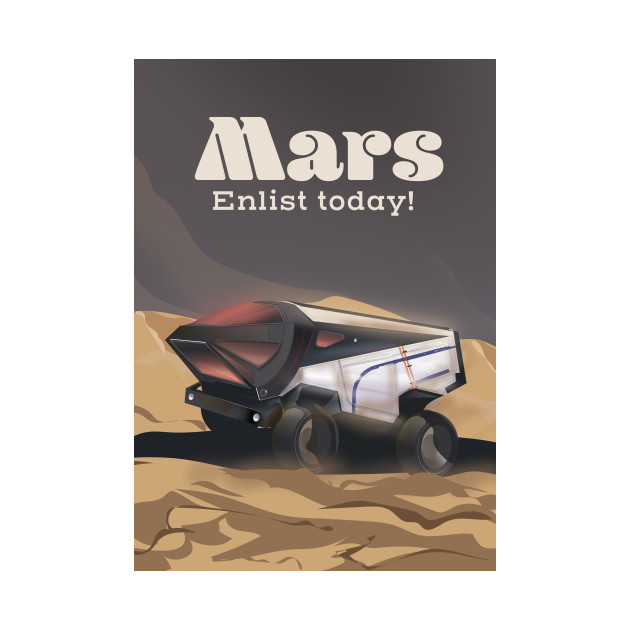 Mars Enlist Today space art