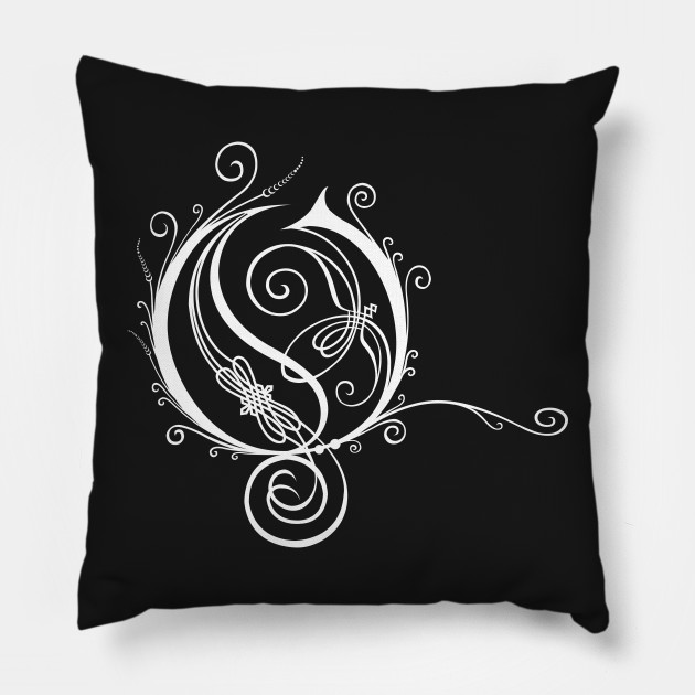 Fancy Letter O White Hard Rock Heavy Metal Pillow Teepublic