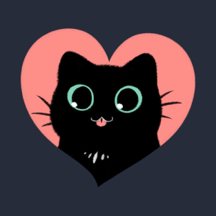 I Heart Black Cats! (Fun Edition) t-shirts
