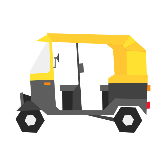 Indian auto rickshaw illustration