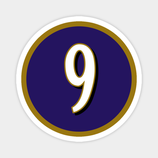 Justin Tucker Baltimore Ravens Number 9 Jersey Inspired