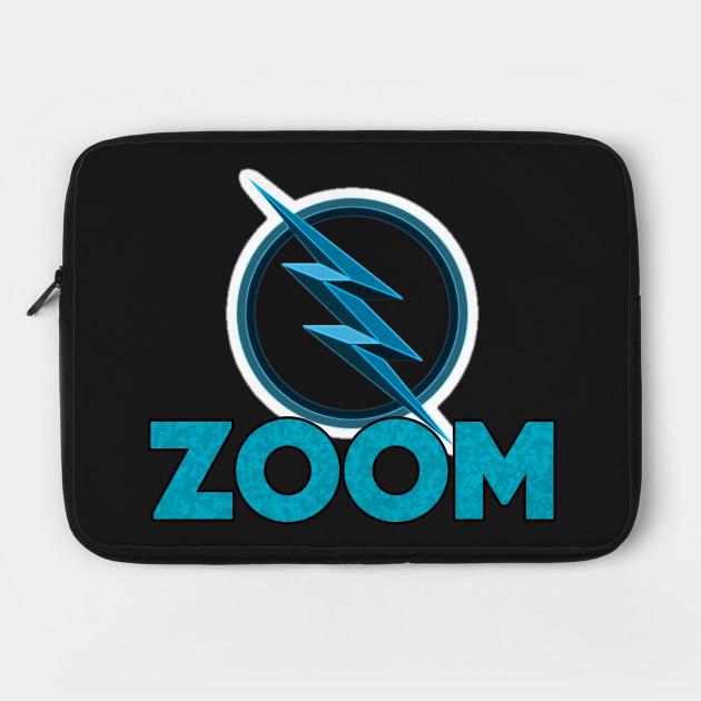 zoom cartoon logo flash laptop case teepublic