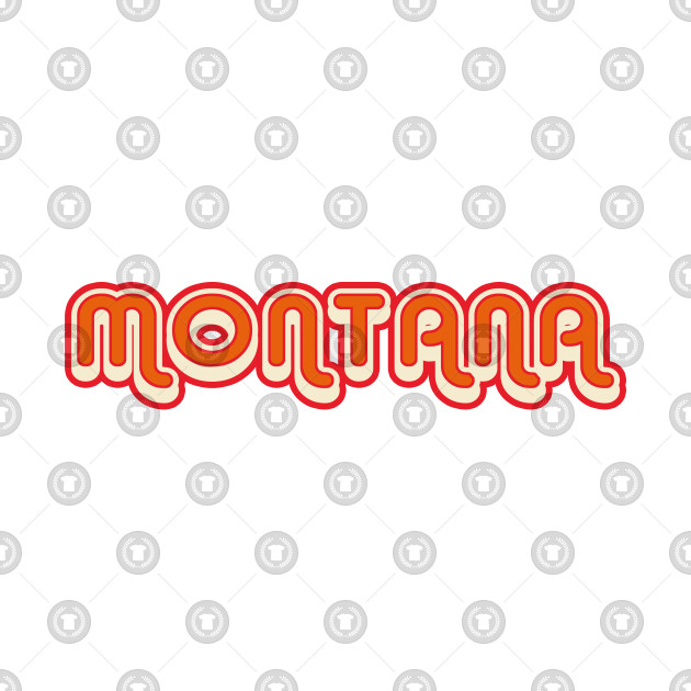 Montana retro 70s vintage graphic with shadow