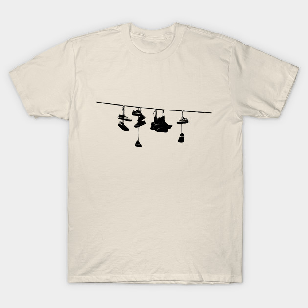 Shoes on a Wire - Shoes - T-Shirt | TeePublic