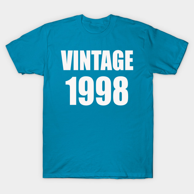 OLD 1998 Mens Adult 21st Birthday Casual Costume Fancy Dress Gift Unisex Tshirt