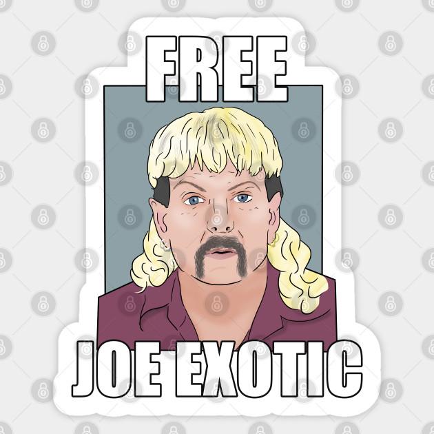 Free Joe Exotic Tiger King Meme Joe Exotic Tiger King Sticker