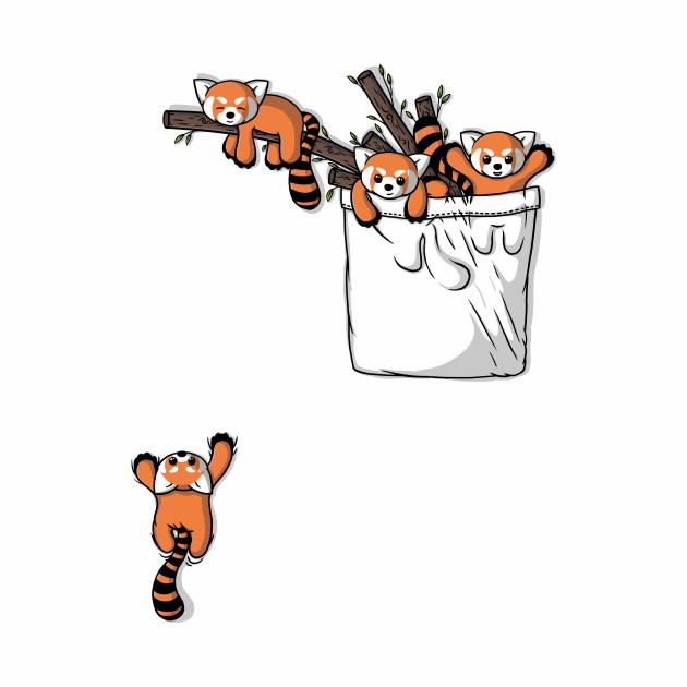 Pocket Red Panda Bears