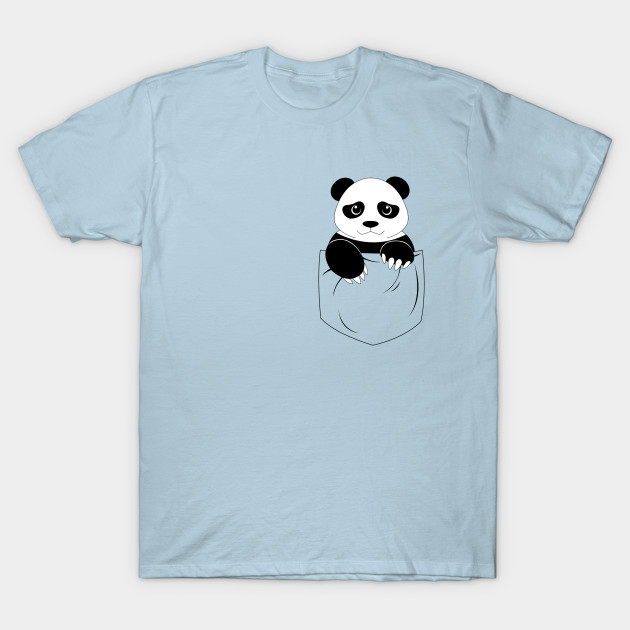 Simple panda pocket design - Panda - T-Shirt | TeePublic