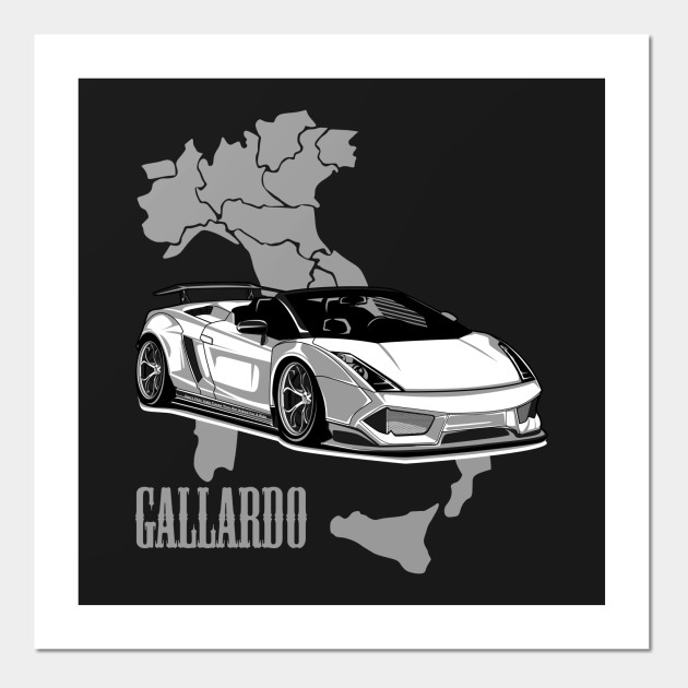 Lamborghini Gallardo Art Posters And Art Prints Teepublic