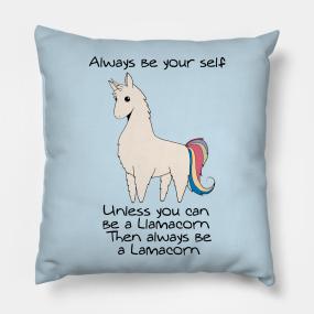 Llamacorn Pillows Teepublic