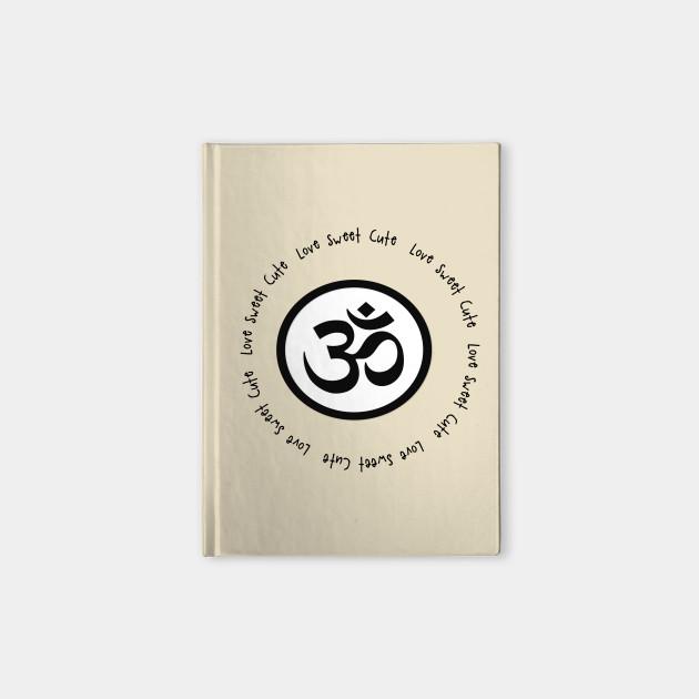 Inner Peace Happiness Om Symbol Notebook Teepublic