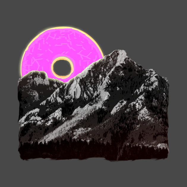 pink doughnut mountain