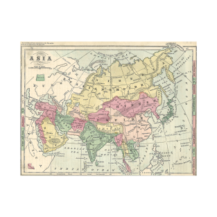 Old map of asia t shirts teepublic publicscrutiny Gallery