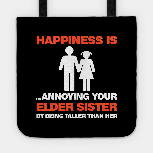 Funny Sibling Gift For Little Brother Shirt Lil Sister T Tote