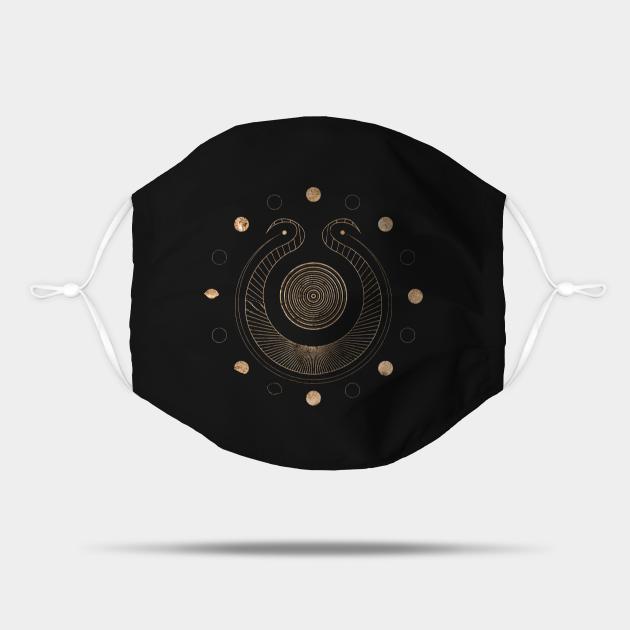 Gold Geometric Glyph Mandala 41