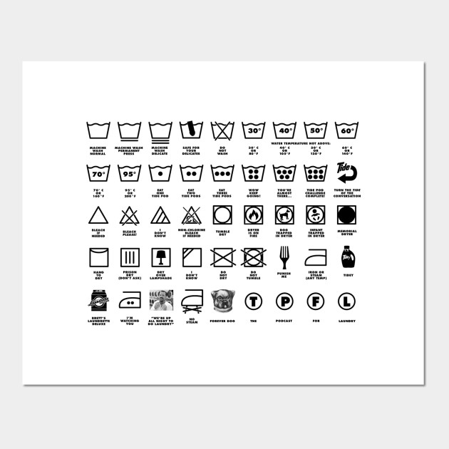 The Podcast For Laundry Symbols Laundry Posters And Art Prints Teepublic Uk