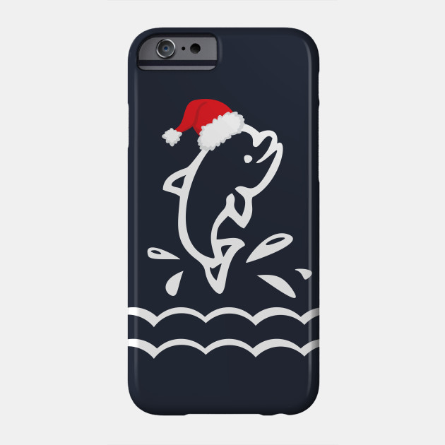 Holiday Dolphin - Christmas Animal - Cute Christmas Shirt Phone Case