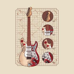 5883d827fc8 Gibson Guitar Design T-Shirt
