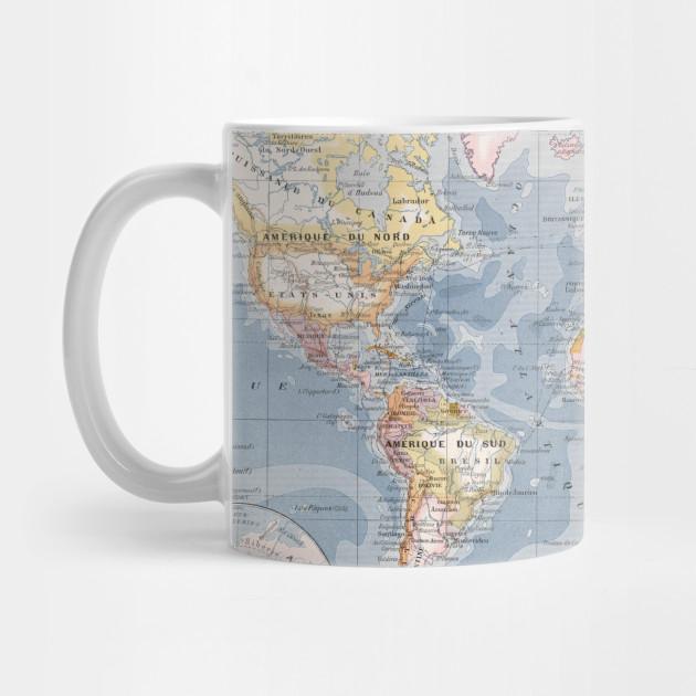 Vintage Map of The World (1900) - World Map - Mug   TeePublic