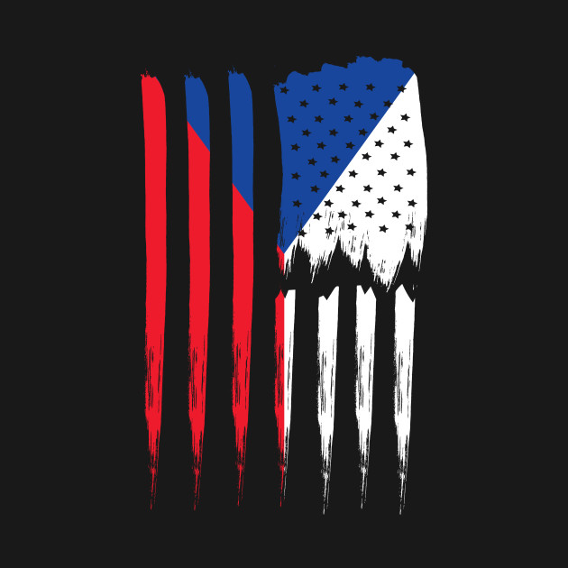 Czech Republic and USA Flag