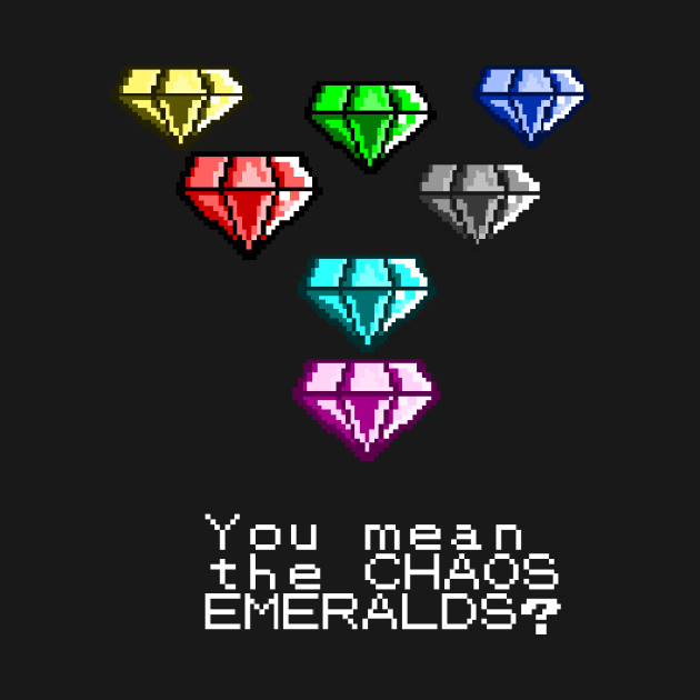 You Mean The Chaos Emeralds Sonic Meme T Shirt Teepublic