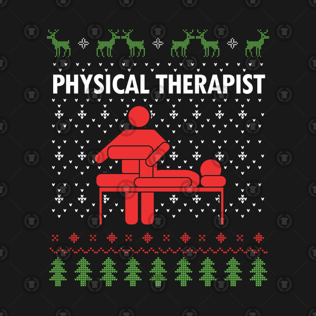 Cute Awesome Physical Therapist Ugly Christmas Sweater Therapy