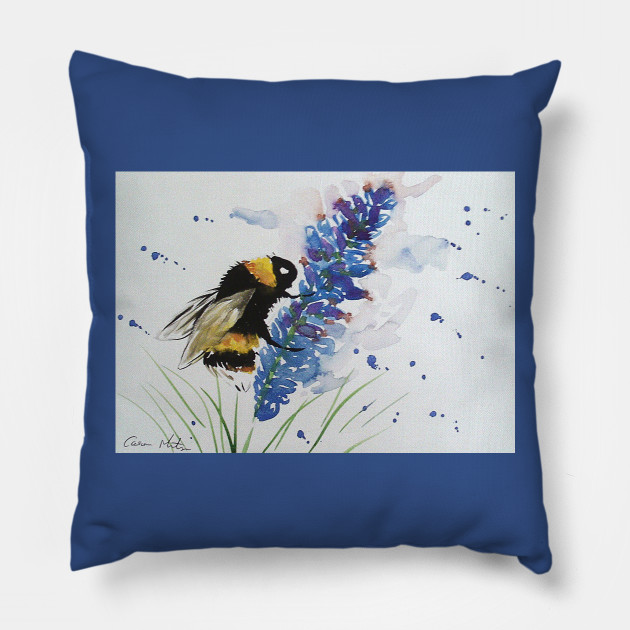 Bumble bee and Blue Lavender