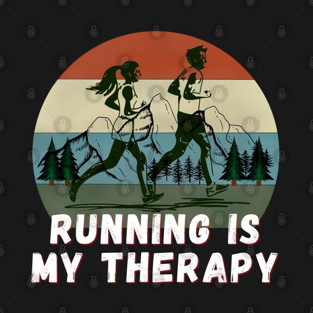Running Sayings Vintage Design