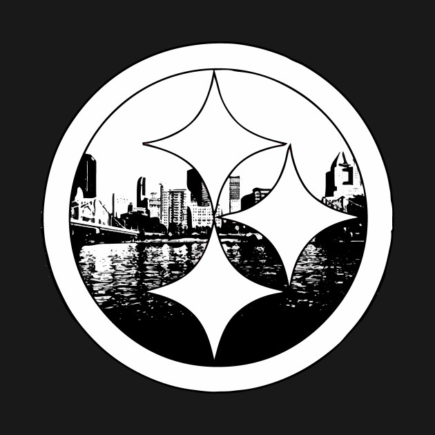 Pittsburgh steelers logo black and white