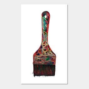 Paintbrush Posters and Art Prints | TeePublic