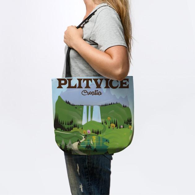 Plitvice Croatia Travel poster