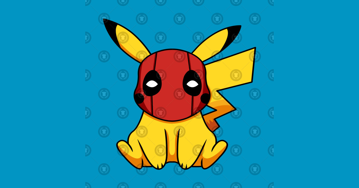 18156203 Pikapool Pikachu Deadpool Mashup Pokemon Detective Pikachu - Deadpool  Pikachu - Mug   TeePublic