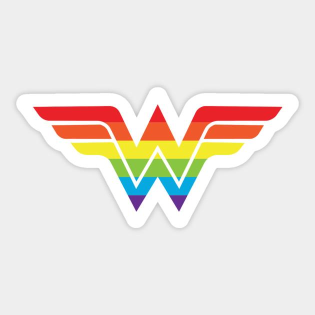 Wonder Woman Gay Pride Wonder Woman Logo Sticker Teepublic