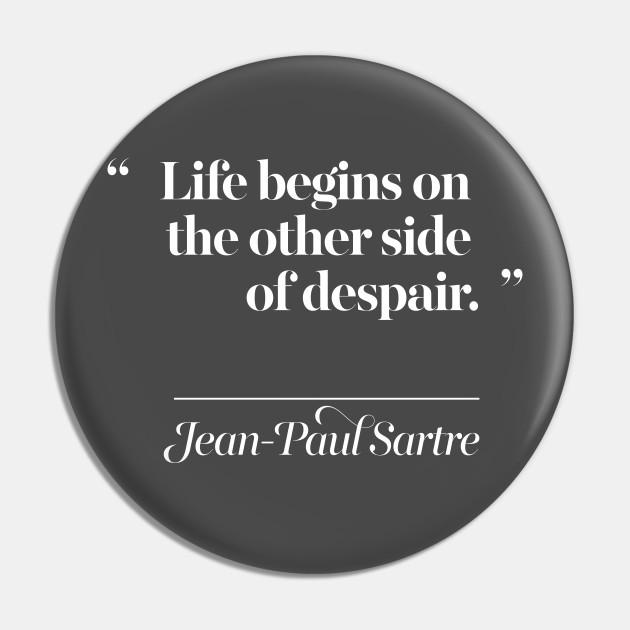 Jean Paul Sartre Quotes Typography Design