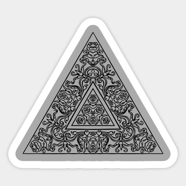 85958dbc16be3 Triangle Mandala - Black And White Mandala - Sticker | TeePublic