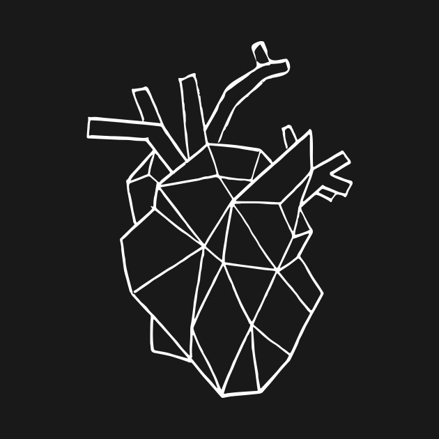 how to draw a geometric heart