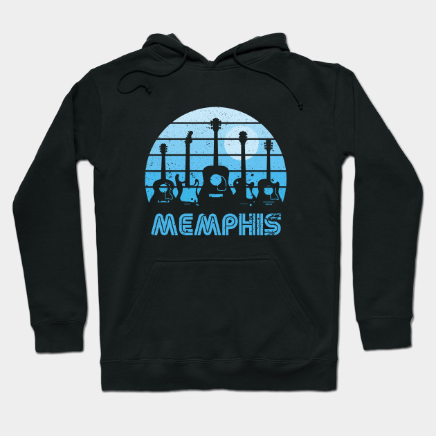 Retro Sunset Memphis Guitars Hoodie