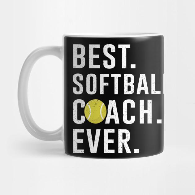 Best Softball Coach Ever Gift Softball Coach Mug Teepublic
