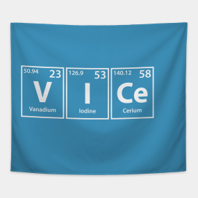 bcde8123f20 Vice (V-I-Ce) Periodic Elements Spelling Tapestry