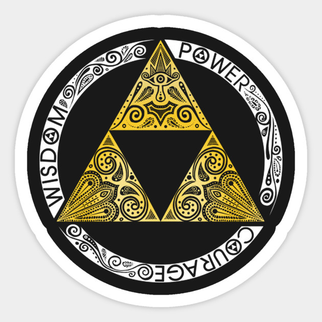 The Legend Of Zelda Triforce Zelda Sticker Teepublic