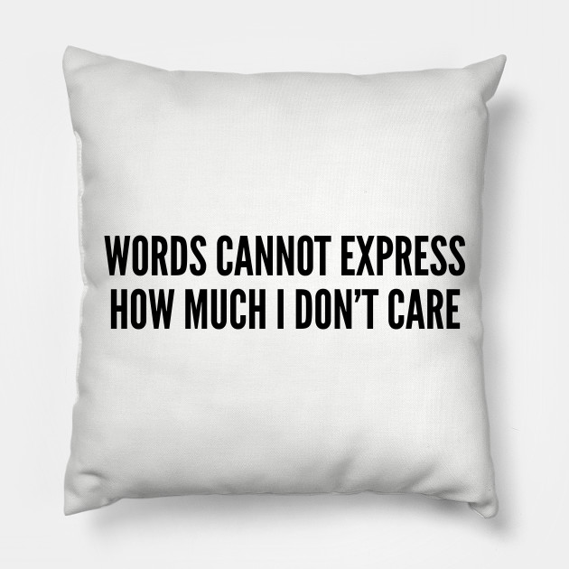 Funny Words Cannot Express How Much I Dont Care Funny Joke