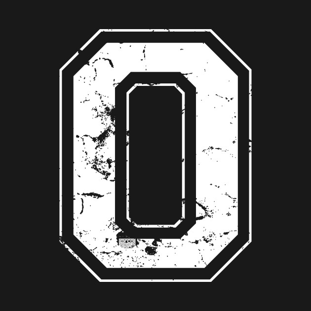 Initial Letter O White Jersey Sports Athletic Player