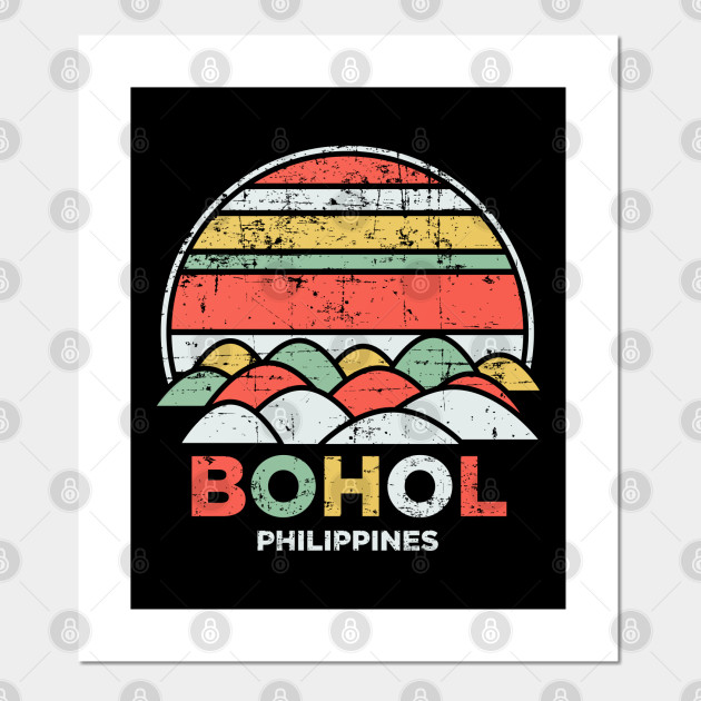 Vintage Bohol Chocolate Hills Philippines Pilipinas Gift
