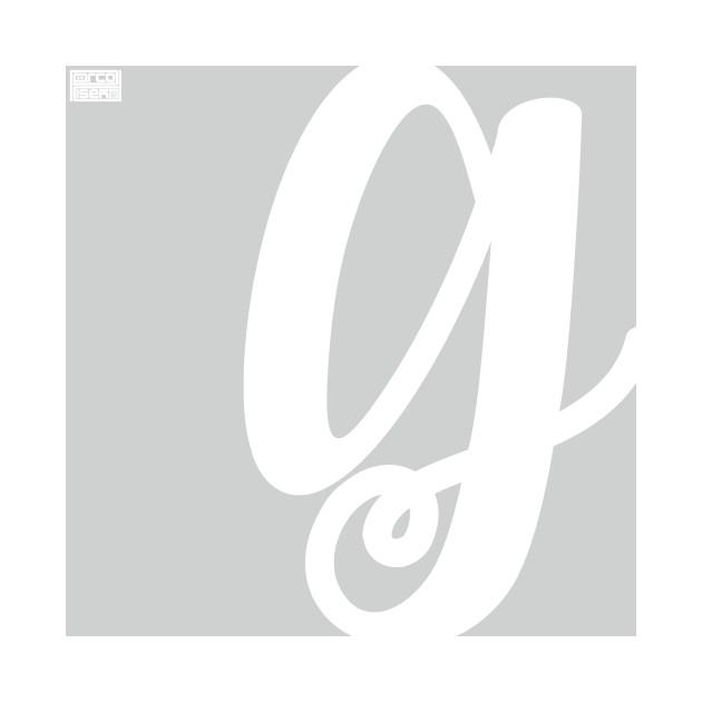 Letter G Elegant Cursive Calligraphy Initial Monogram